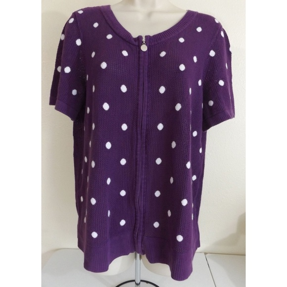 1383c8d84f5 Christopher   Banks Sweaters - Must be bundled - Short Sleeve Polka Dot  Sweater
